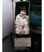 Brinn Porcelain 14 Inch Lynette Girl Doll Brown Hair Brown Eyes Soft Bod... - $14.95