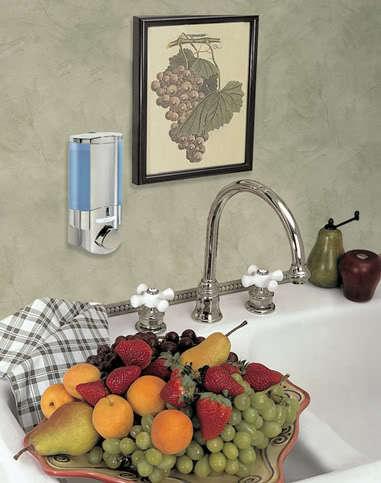 AVIVA 1 Soap Shampoo Shower Dispenser CHROME NEW!