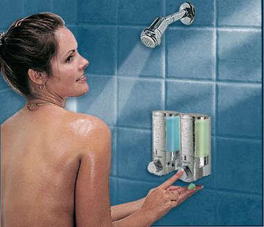 AVIVA 2 Soap Shampoo Shower Dispenser CHROME NEW!