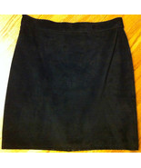 Black Suede Skirt ~ Made in the UK ~ Size Small ~ - $40.00