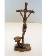 Peltro Cesellato A Mano, Pewter John Paul Crucifix and Communion Cup w/ ... - $11.00