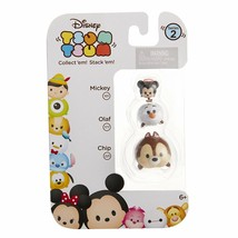 Disney Tsum Tsum Stackable Collectible Figures Series #2 Mickey Olaf Chip - $3.95