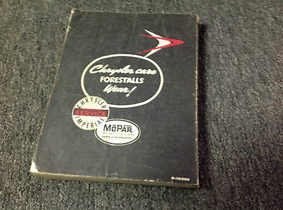 1958 CHRYSLER IMPERIAL Service Shop Repair Manual FEO FACTORY x DEALERSHIP