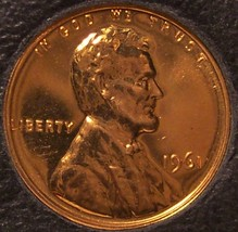 1961 Proof Lincoln Memorial Penny #0102 - $1.59