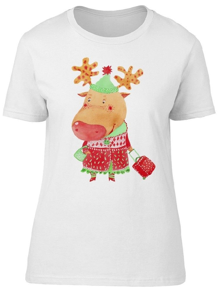 Primary image for Watercolor Of Funny Deer Women's Tee -Image by Shutterstock