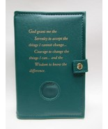 AA Alcoholic Anonymous Deluxe Green Double Book Cover - $28.34