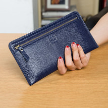 Fashion Women's Genuine Leather Wallets Female Nature Skin Long Zipper Clutch La - $25.94