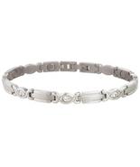 Sabona 303 Lady Executive Silver Gem Magnetic Bracelet - $57.97