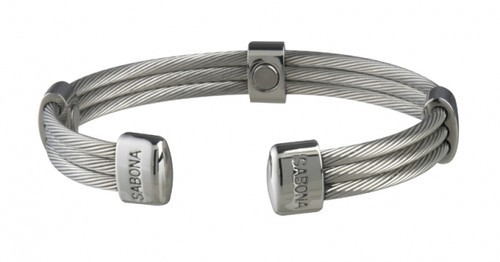 Sabona 366 Trio Cable Stainless Magnetic Bracelet