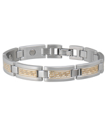 Sabona 374 Greek Key Duet Magnetic Bracelet - $63.99