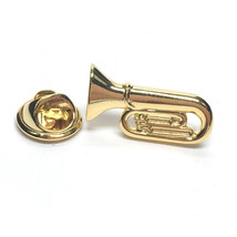 Gold Plated Tuba  lapel pin/ tie tac etc, comes in gift box