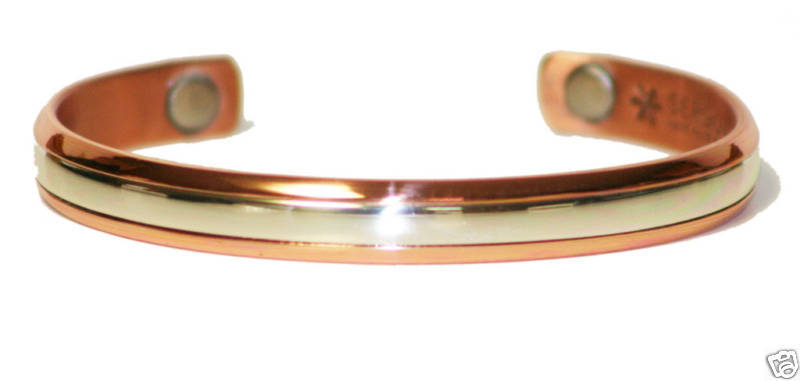 Sergio Lub 750 - Magnetic Sterling in Copper Bracelet - Size XL