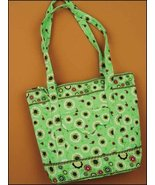 Mint Green Emily Quilted Tote Organizer bag 14.... - $25.00