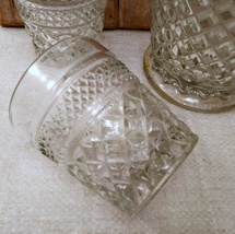 """5 Anchor Hocking Wexford """"On the Rocks"""" old fashioned glasses and Pitcher image 3"""