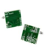 CIRCUIT BOARD CUFFLINKS Computer Chip Tekkie Tech Green Square NEW w GIF... - $11.95