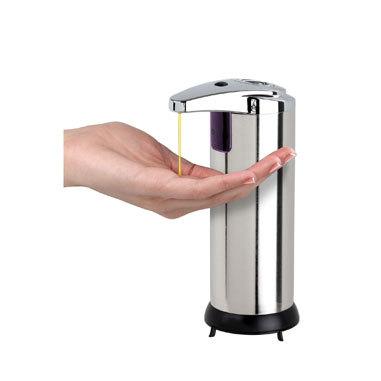 Touchless Automatic Handsfree Soap Dispenser Chrome Fin