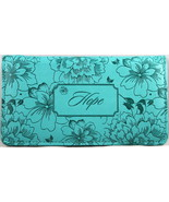 Checkbook Cover Turquoise Hope Floral Debossed Brand NEW - $13.14