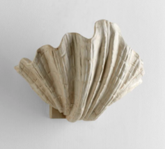 Scallop Shell Wall Sconce Light Fixture Beach Coastal Transitional Whimsical - $117.80