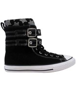 Converse Chuck Taylor Glendale Xtra High Black/Mouse 650060C Pre-School ... - $60.00