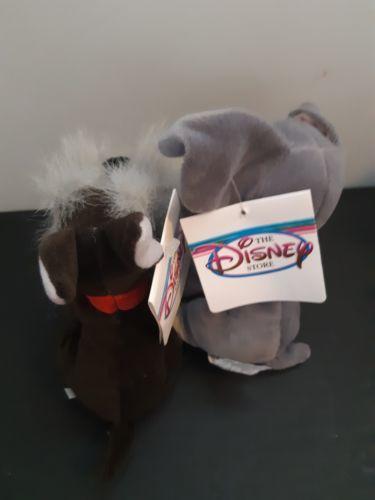 "Disney Tramp and Jock Mini Bean Bag Plush 8"" Dogs With Tags"
