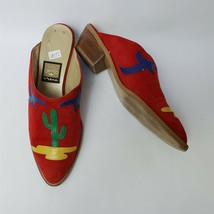 Nina Womens Shoes Slides Clogs Heels Red Multi-color Spain Size US 7 M - $29.65