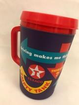 Texaco Mug Purple Red Multi 32 oz Alad din Plastic Insulated Travel Cup Lid USA - $34.99