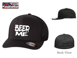 BEER ME DRINKING FUNNY PARTY FLEXFIT HAT  *FREE SHIPPING in BOX* - $19.99