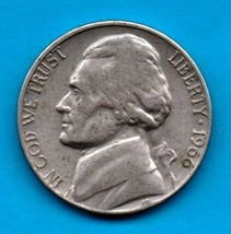 1966 Jefferson Nickel - Light Wear -Strong Features - $0.05