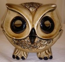 Vintage Ceramic Two Piece Owl Tea Light Candle Holder Figurine - $20.78