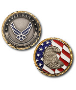 NEW USAF U.S. Air Force Veteran with eagle and flag Challenge Coin. Nickel - $14.99