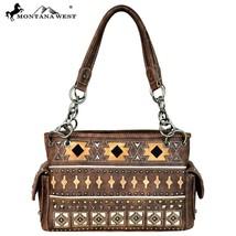 Montana West Silver Studs, Cut-out Aztec Pattern Satchel Handbag - $61.99