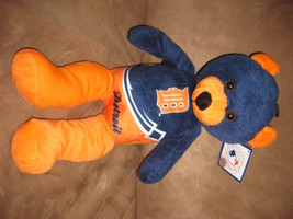 "Detroit Tigers Orange And Blue Bear Mlb Baeball Brand New Nwt Stuffed W Tags 14"" - $9.99"