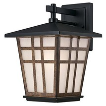 Westinghouse Lighting 6358200 Rollins One-Light Black Finish with Barnwood Accen - $83.72