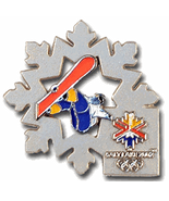 Salt Lake 2002 Olympic Snowboard Snowflake Pin - $10.50