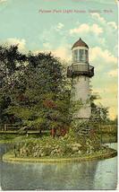 Palmer Park Light House Detroit Vintage 1912 Post Card - $5.00
