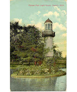 Palmer Park Light House Detroit Vintage 1912 Post Card - $5.00