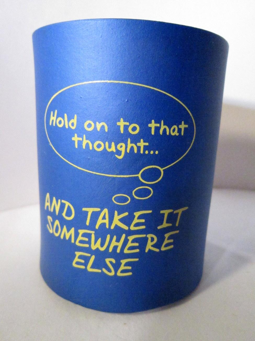 Blue foam smart alec canned beverage holder 01