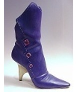 Jagged Edge Violet Boot Accented with 3 Marquise Stones Just the Right Shoe - $29.99