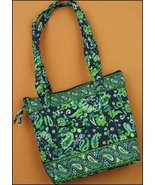 Navy Ashley Quilted Tote Organizer bag 12.5x10.5x3.75 cross stitch - $20.00