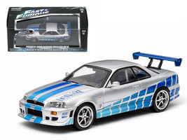 "1999 Nissan Skyline GT-R \""2 Fast 2 Furious\"" Movie (2003) 1/43 Diecast ... - $29.19"