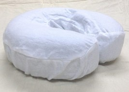 4 pc Massage Table Face Cradle Covers HeadRest Flannel Pad Cover White - $13.83