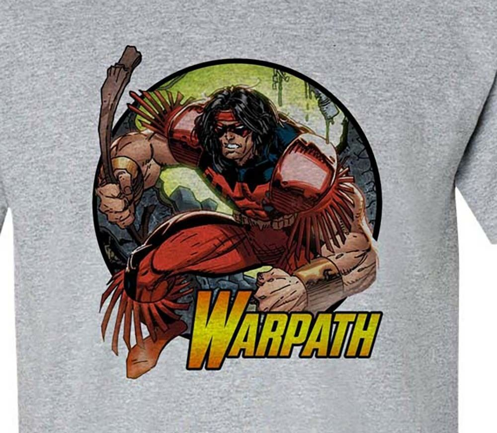 Warpath t-shirt marvel X Force Thunderbird graphic tee cotton blend graphic tee