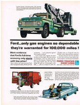 Vintage 1962 Magazine Ad For Ford Trucks Super Duty Engines Built To Run... - $5.93
