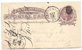 1887 Eatonton, GA Vintage Post Office Postcard - $9.95