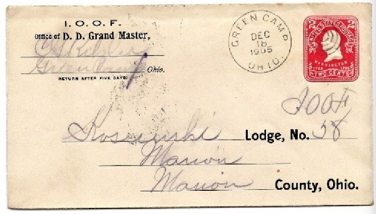 Primary image for 1905 Green Camp, OH Vintage Postal Cover