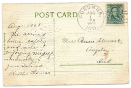 1908 Corunna, IN Vintage Post Office Postcard - $9.95