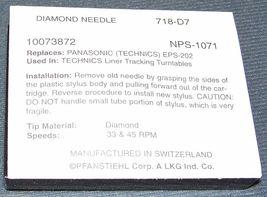 NEEDLE STYLUS Pfanstiehl 718-D7 for Technics EPS-202 EPS-23 EPS-24 EPS-25 EPS-27 image 3