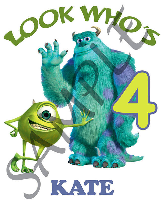 Personalized Monsters Inc Birthday T-Shirt Add Name for sale  USA