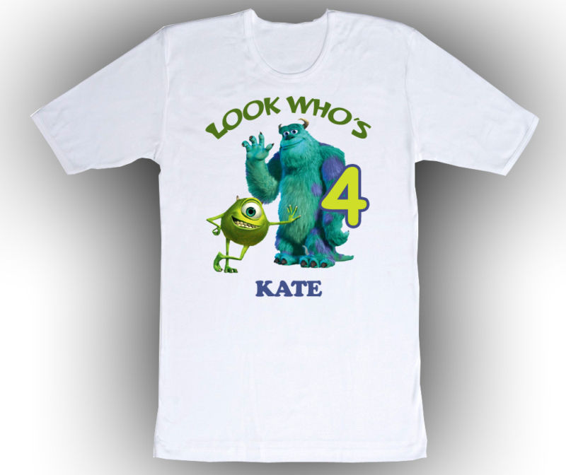 Personalized Monsters Inc Birthday T-Shirt Add Name