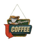 Metal SiGN CoFFEE SiGN VinTaGe SUPERIOR  COFFEE Kitchen HoMe DeCoR SiGN ... - $14.95